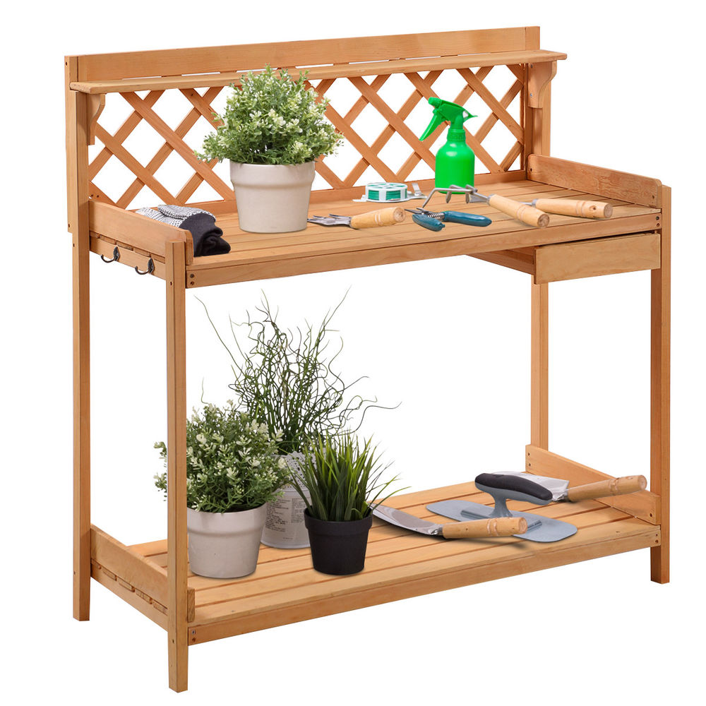 our favorite potting bench outdoor garden work bench station planting