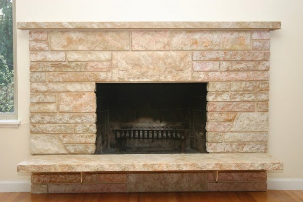 Our Favorite   Remodelaholic   Restoring A Painted Stone Fireplace Medium