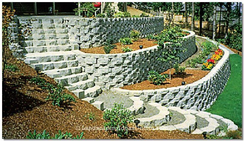 Our Favorite Retaining Wall Step Designlandscaping Ideas ...