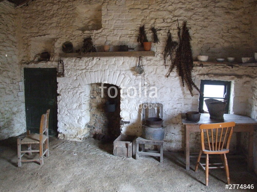 Our Favorite Rural Old Irish Kitchen Stock Photo And Royaltyfree Medium