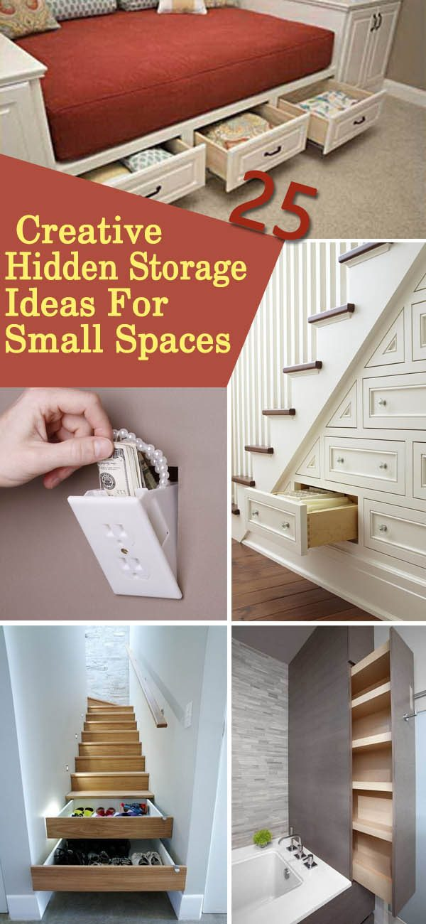 Perfect 25 Creative Hidden Storage Ideas For Small Spaces Noted List Medium