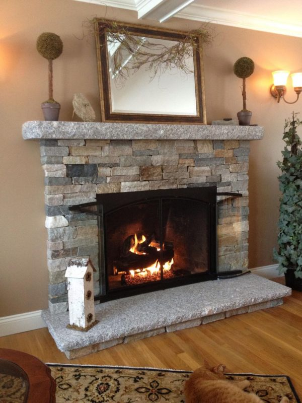 Perfect Diy Faux Stone Fireplacefireplace Designs Medium