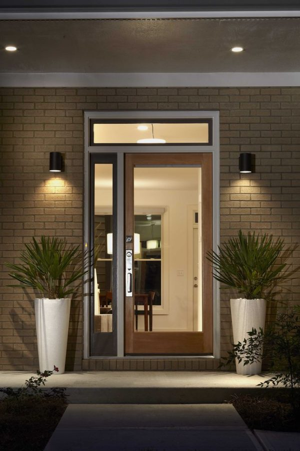 Perfect Glass Front Door With Side Top Panelhome Renovation Medium