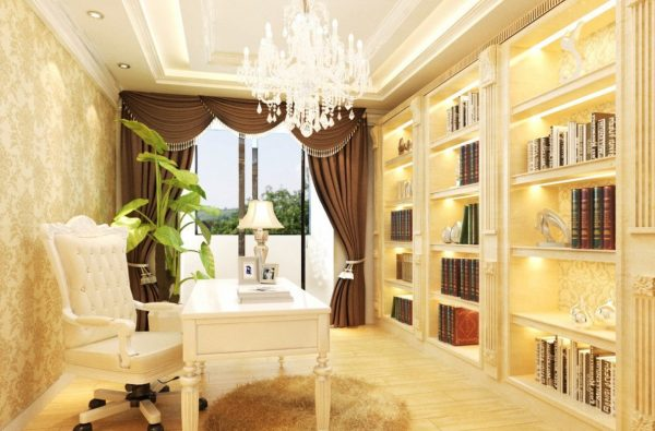 Perfect Neoclassical French Study Room Interior Design House Medium