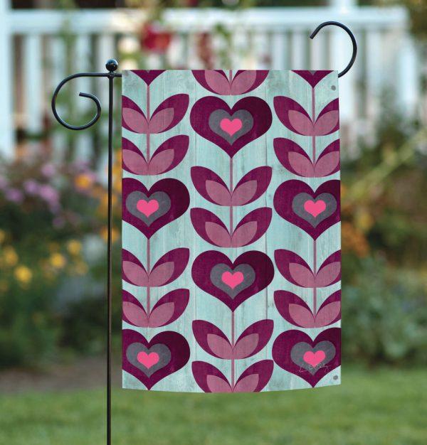 Perfect New Toland Flower Hearts Cute Pink Purple Heart Medium