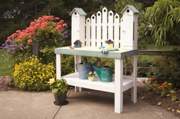 Perfect Outdoor Garden Work Benches Innovation Pixelmaricom Medium
