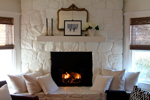perfect painted stone fireplacemost lovely things