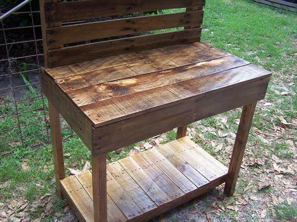 perfect pallet garden potting bench  work bench101 pallets