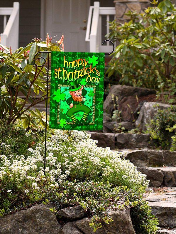 Perfect Toland Home Garden Happy Leprechaun Garden Flag 112128 Medium