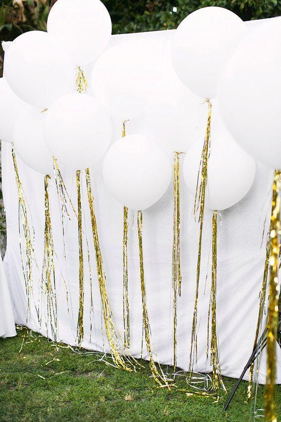 Popular Beautiful White Balloon Display For An All White Birthday Medium