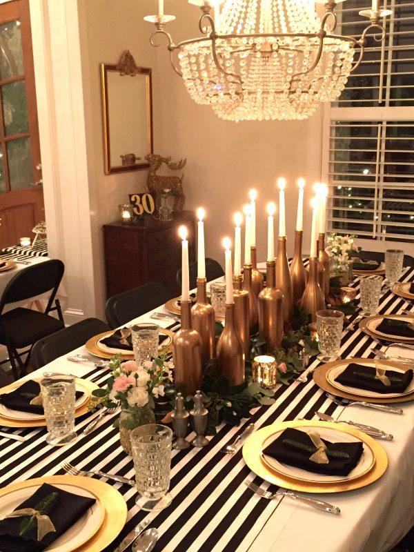 Popular Gold Black And White My 30th Birthday Dinner Party Medium