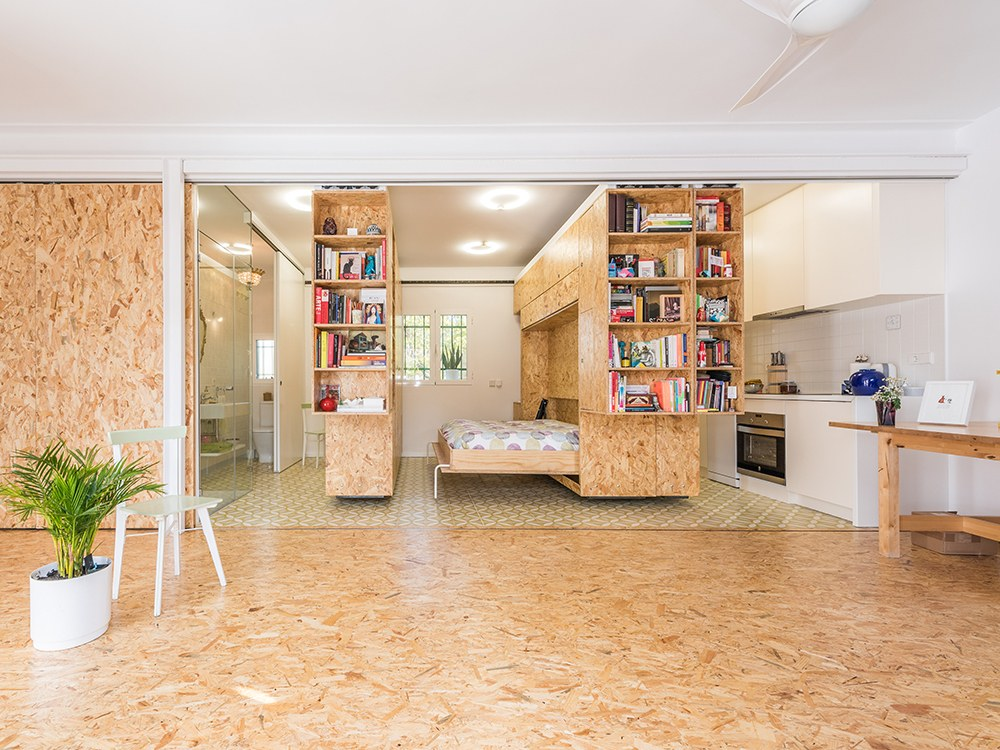 popular moving walls transform a tiny apartment into a 5room home