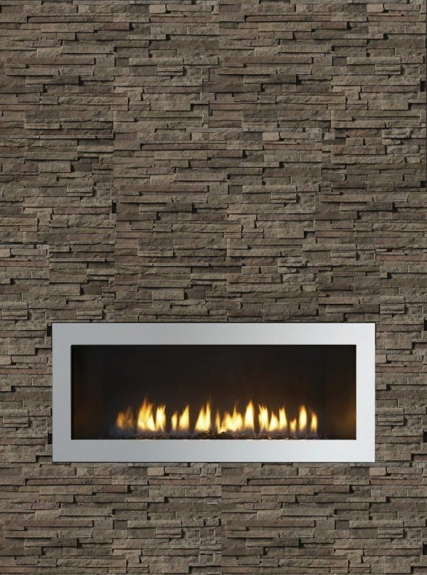 Popular Our Fireplace With Stack Stone Idea But In Travertine And Medium