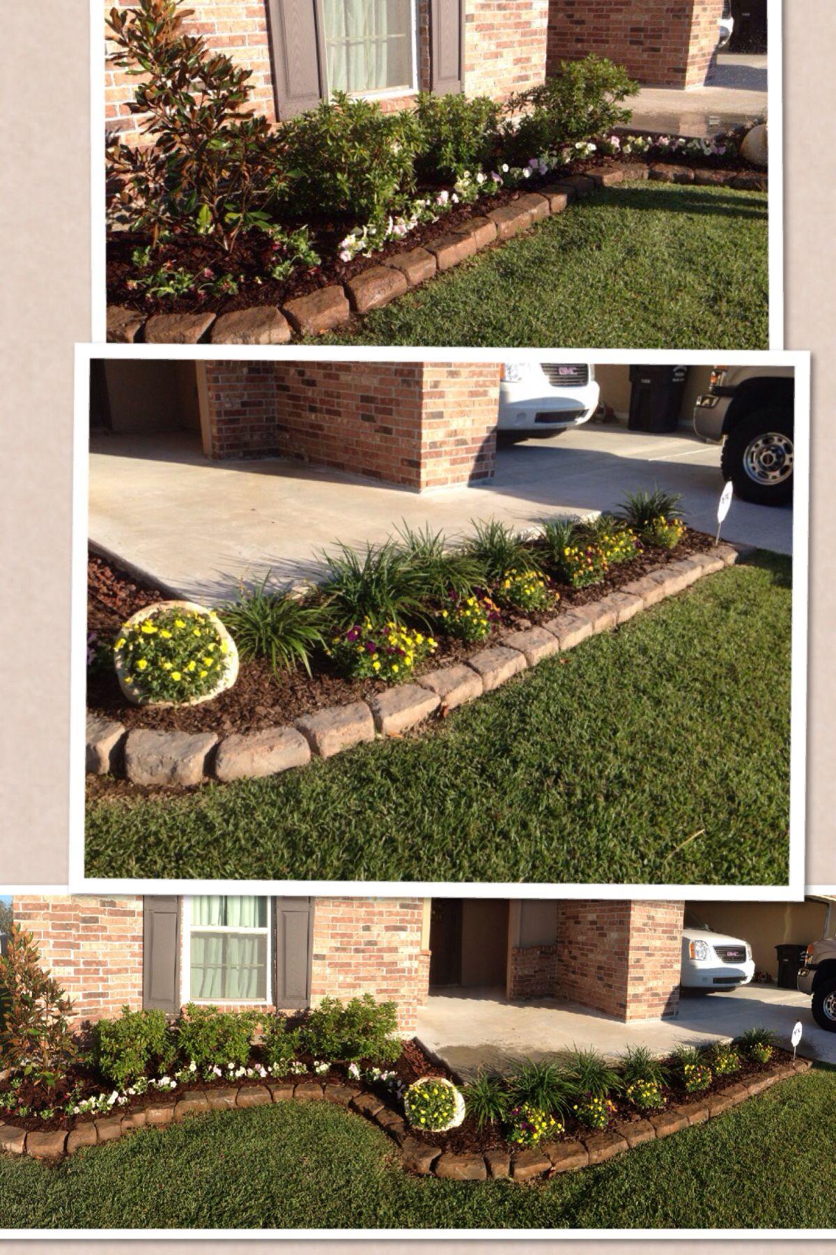 popular simple front flower bed design flower gardening