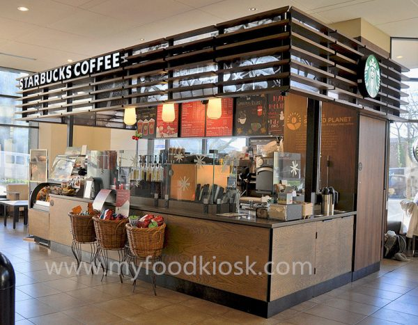 Popular Starbucks Coffee Kiosk Design In Mall For Sale Medium