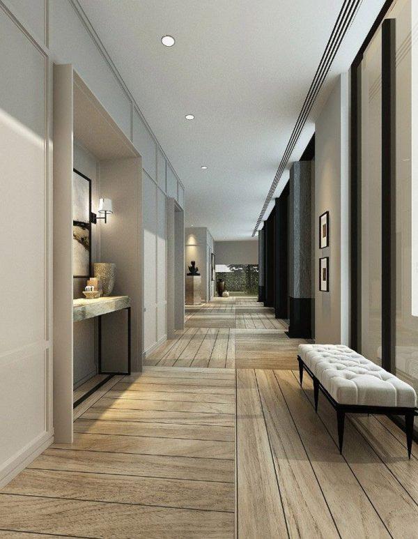 Popular Tile And Wood Floor Transition Coridor Tiles Residential Medium