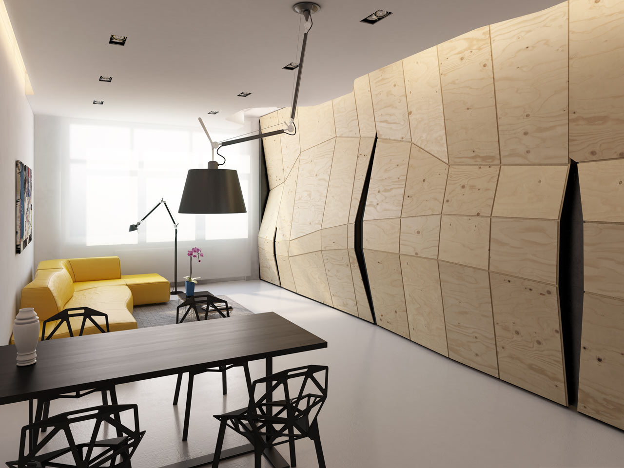 popular transforming apartment maximizes small space design milk