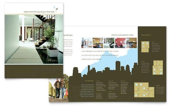 Popular Urban Real Estate Brochure Template Design Medium