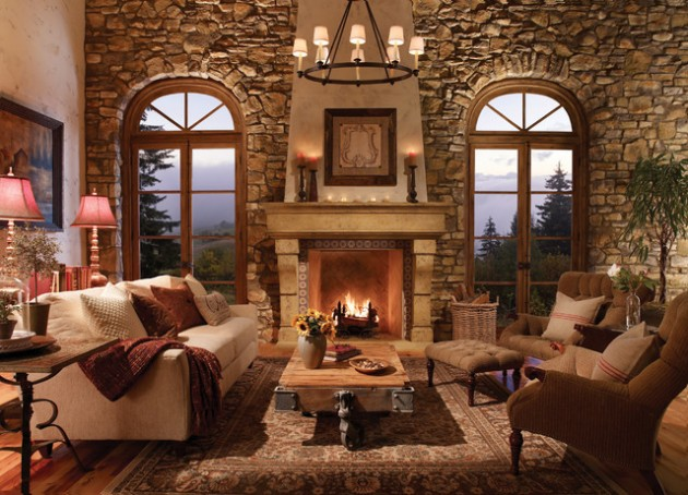 search 17 likable   cozy rustic living room designs with fireplace