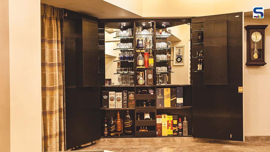 search a hidden bar unit