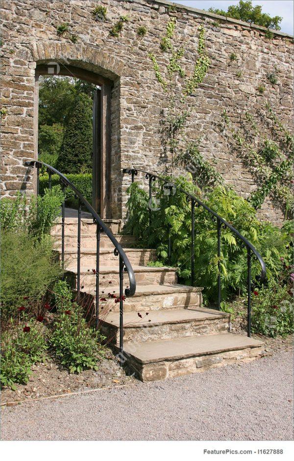Search Historical Architecture Ancient Garden Stairway Stock Medium