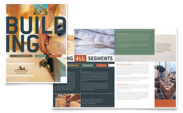 Search Home Builders   Construction Brochure Template Design Medium