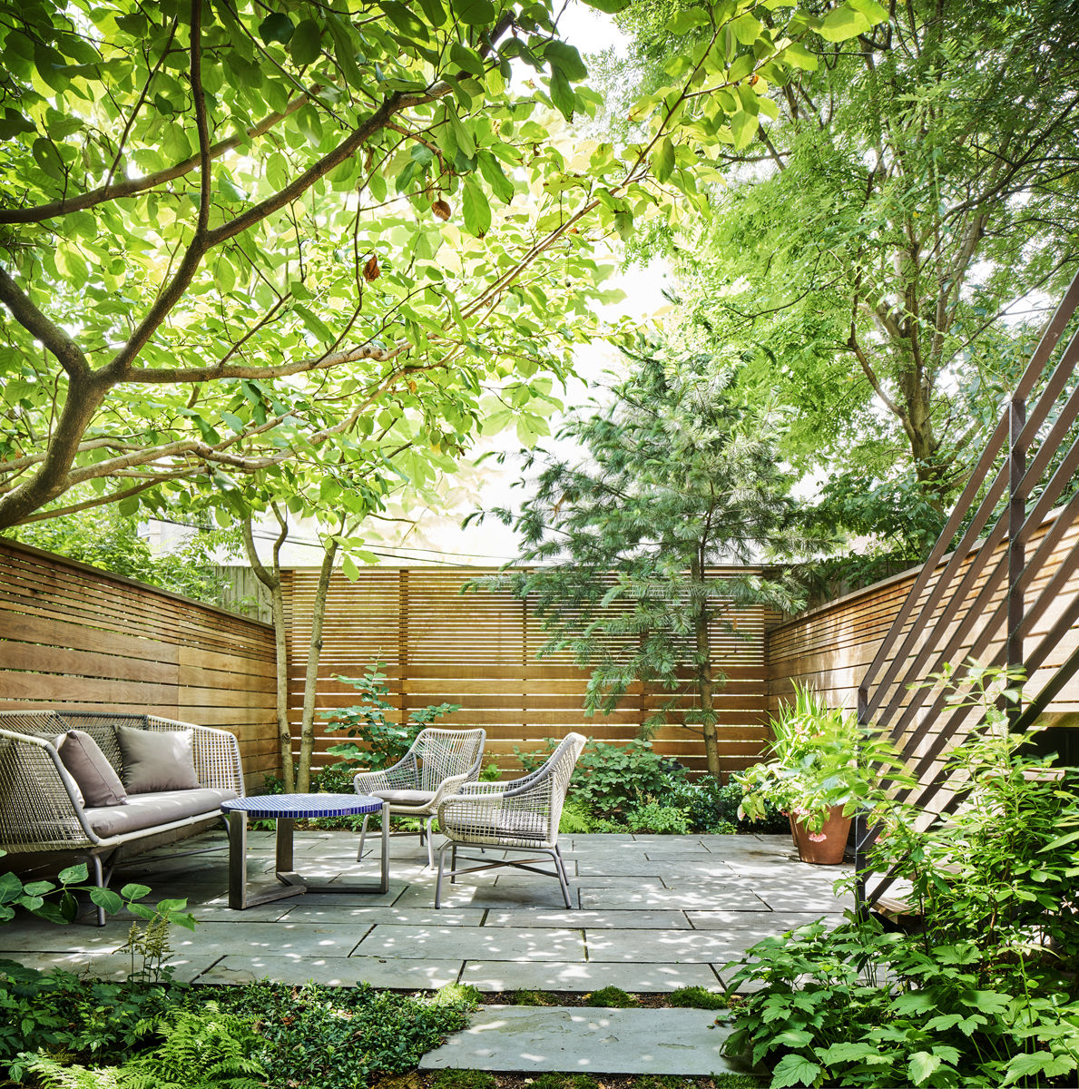 search landscape architect visit a leafy garden in park slope in