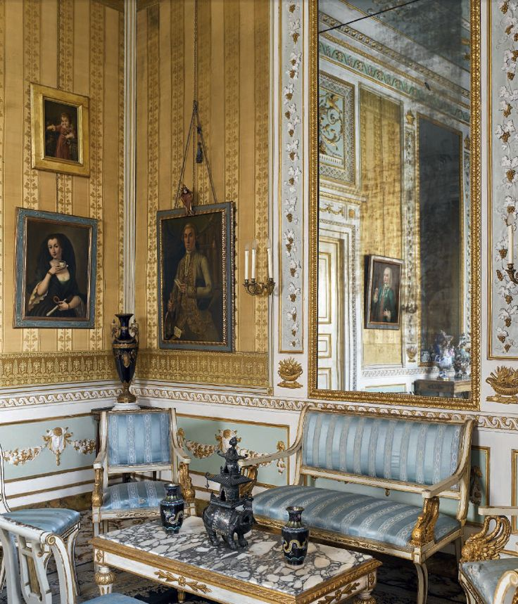 simply a neoclassical drawing room of a tuscan palazzo in italy
