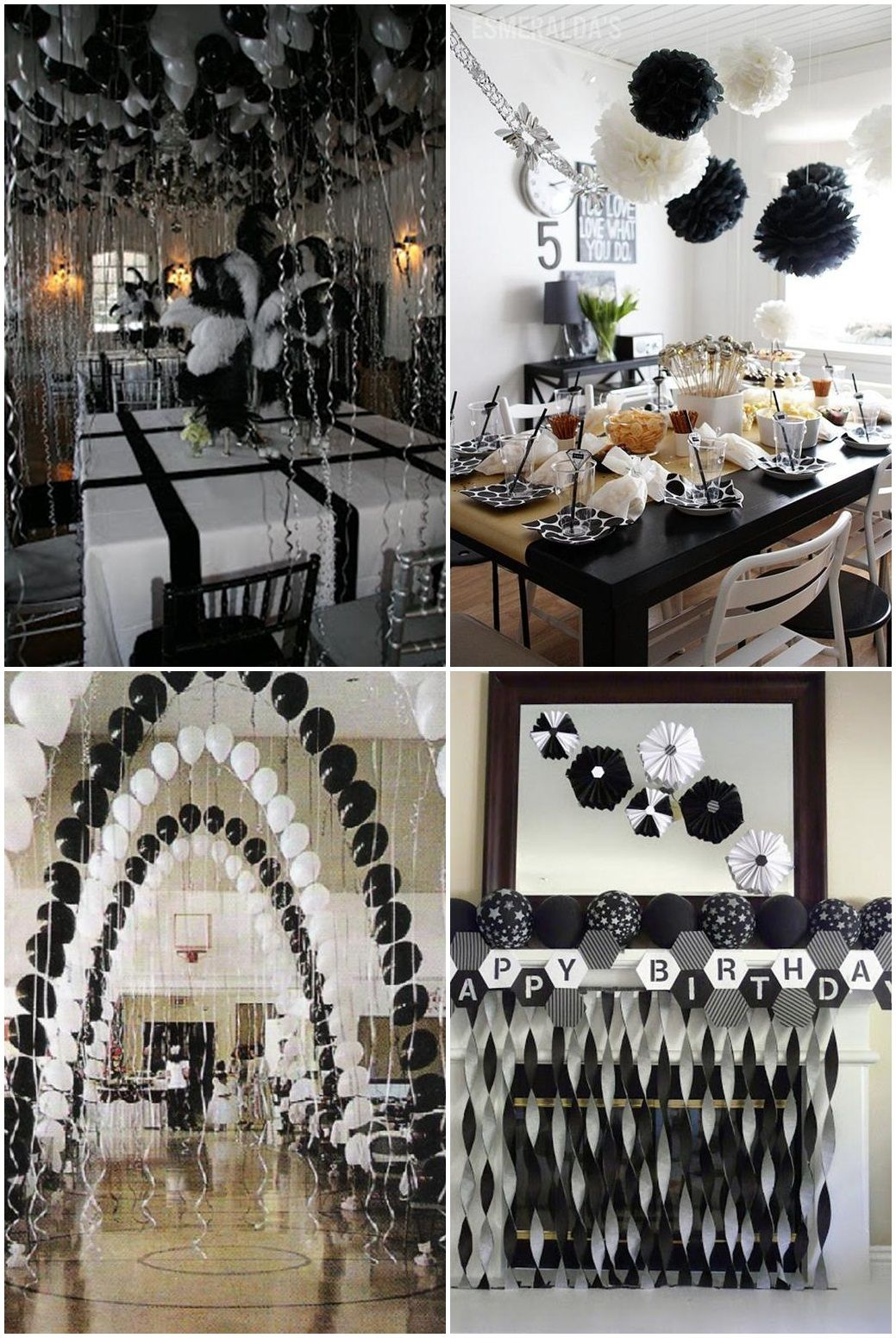 simply black and white graduation party ideasfather daughter