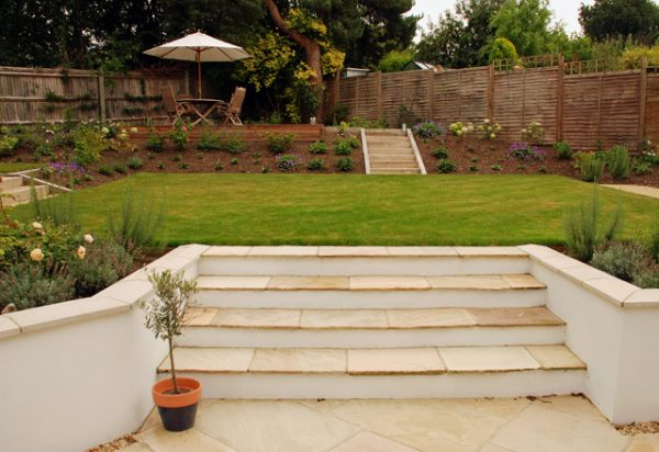 Simply Dealing With Sloped Gardenslisa Cox Garden Designs Blog Medium