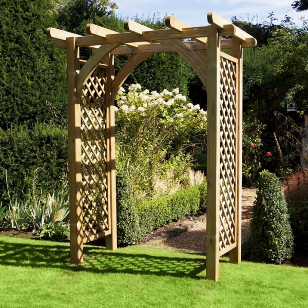 Simply Large Wooden Garden Arch Thurleston Harrod Horticultural Medium