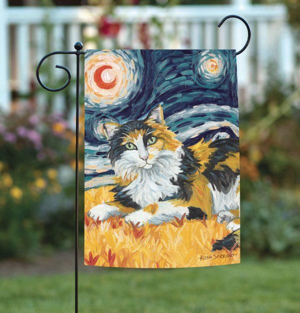 Simply New Toland Van Meow Calico Kitty Starry Night Cat Medium