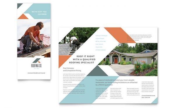 Simply Roofing Company Brochure Template Design Medium