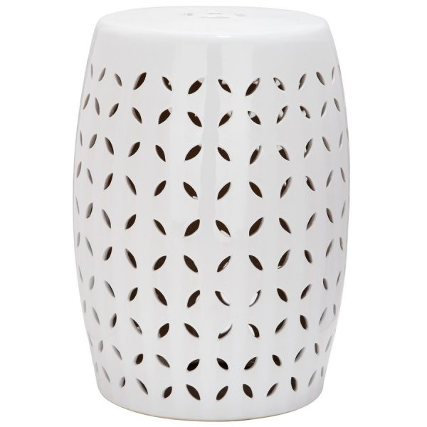 Simply Shop Safavieh 185in White Ceramic Barrel Garden Stool At Medium