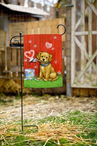 Simply Toland Home Garden Painter Puppy 125 X 18inch Decorative Medium