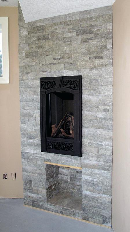 Simply Travertine Tile Fireplace Tile Face Fireplace Custom Wood Medium