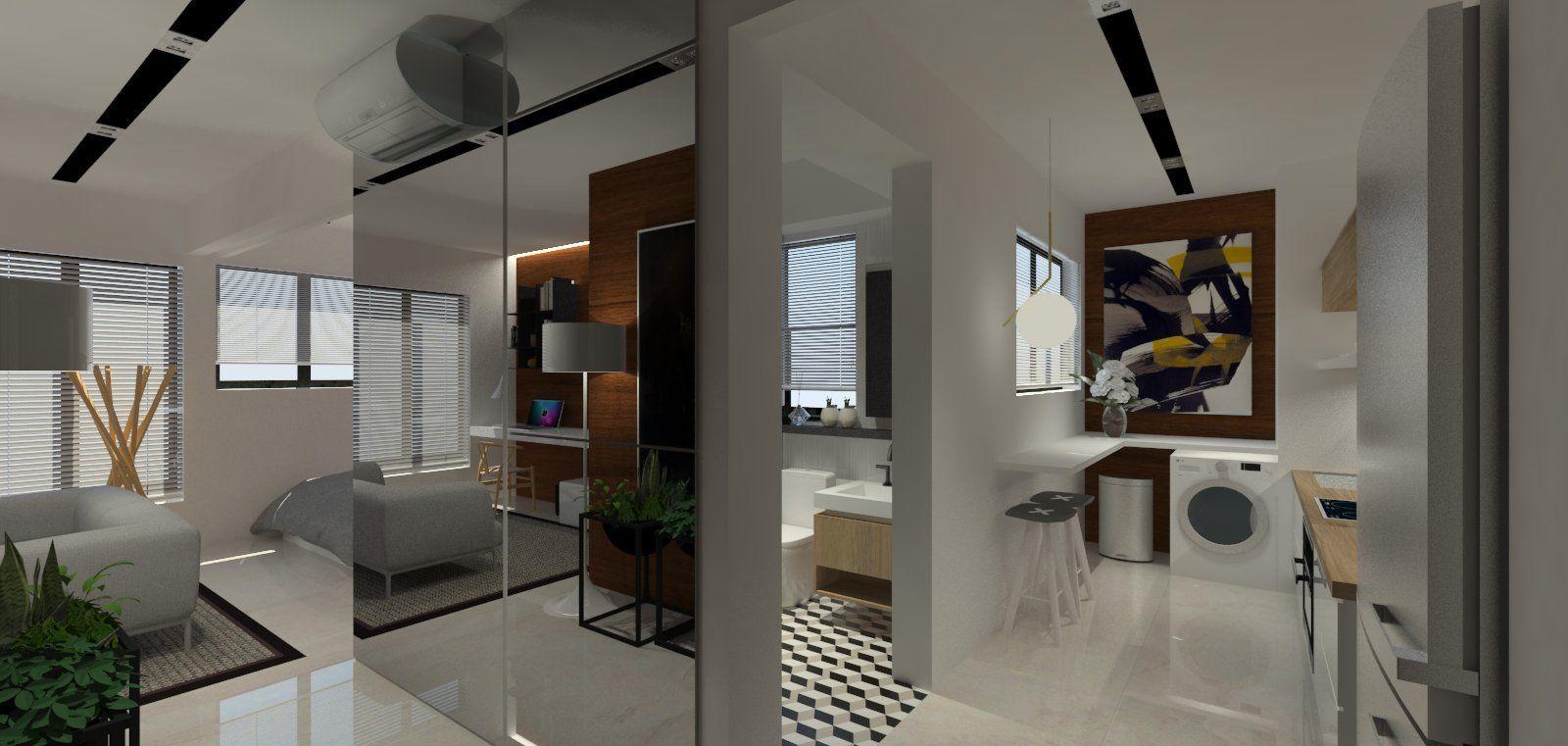 style hdb 2 room bto for singles 47sqm apartment interior