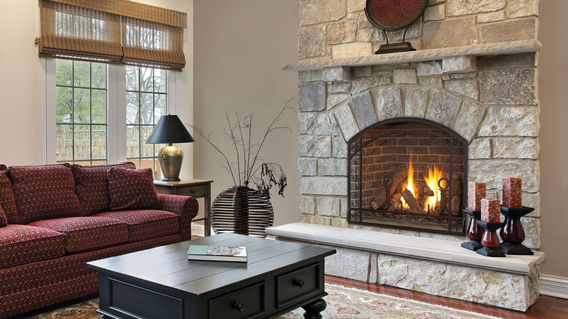 style ideal prefab wood burning fireplace  the wooden houses