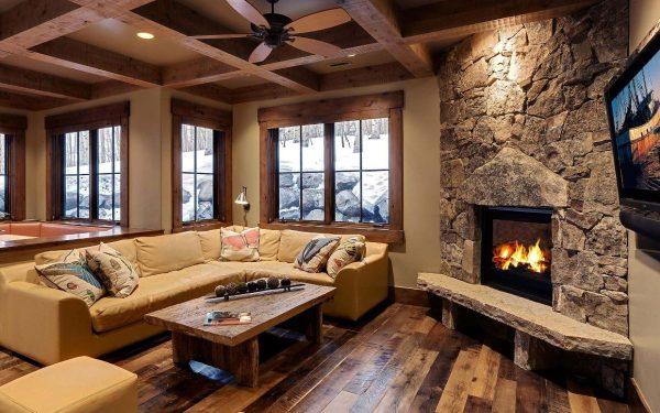Style Inspiring Interior Designs Focused On Corner Fireplaces Medium