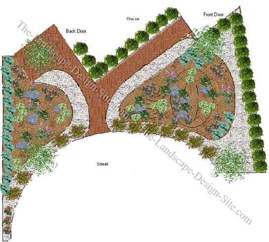 Style Landscape Design Ideas For A Shady Front Yard In A Culde Medium