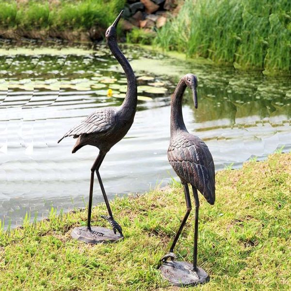 style large metal crane garden ornaments medium