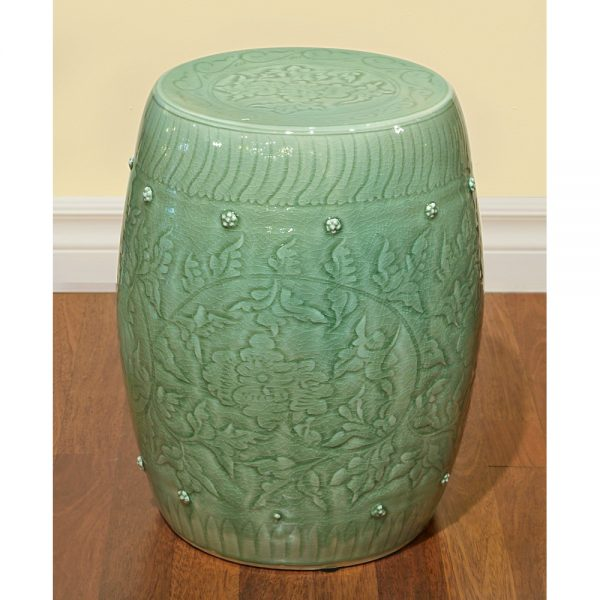 Style Porcelain Garden Stool Medium