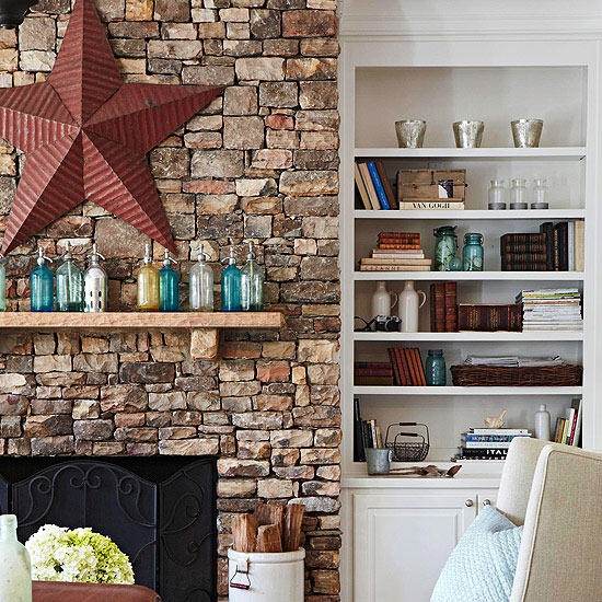 style rustic mantelbetter homes   gardens