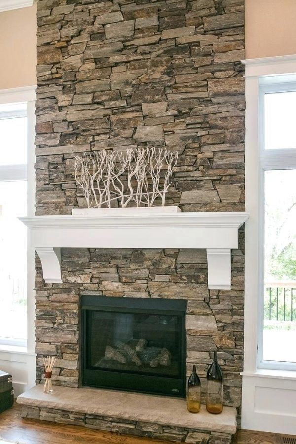Style Stacked Travertine Fireplace Stacked Stone Fireplace New Medium