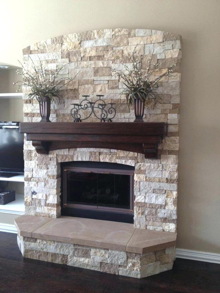 style stacked travertine fireplace tile  forforainfo