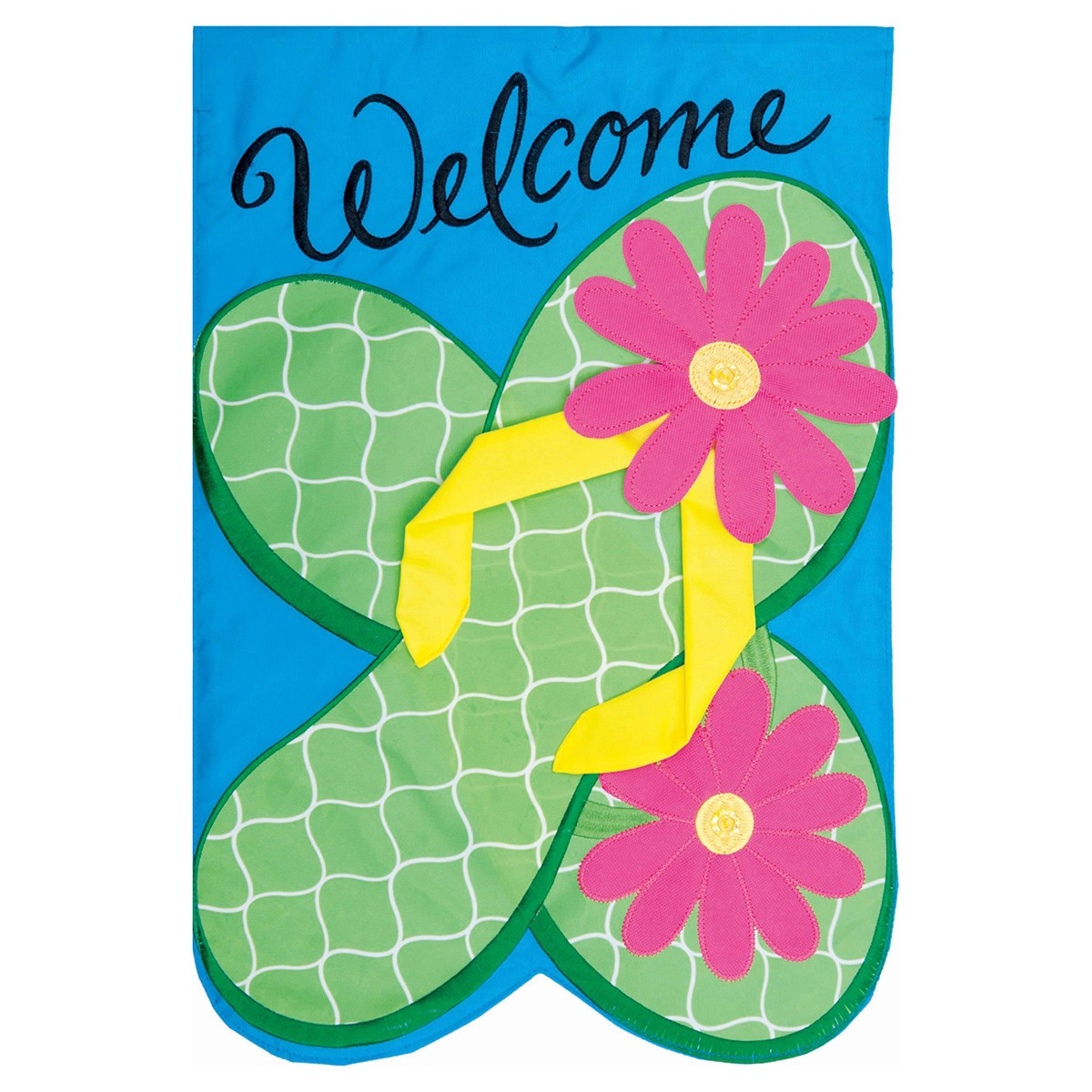 summer garden flag  flower flops