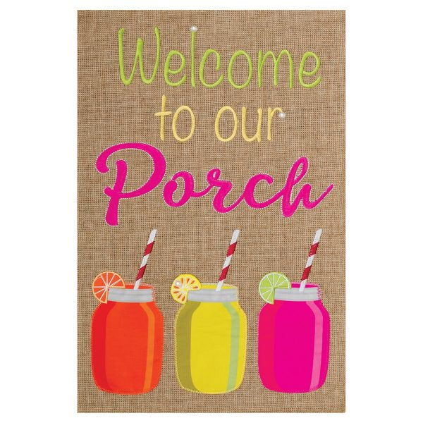 Summer Garden Flag  Porch Welcome Medium