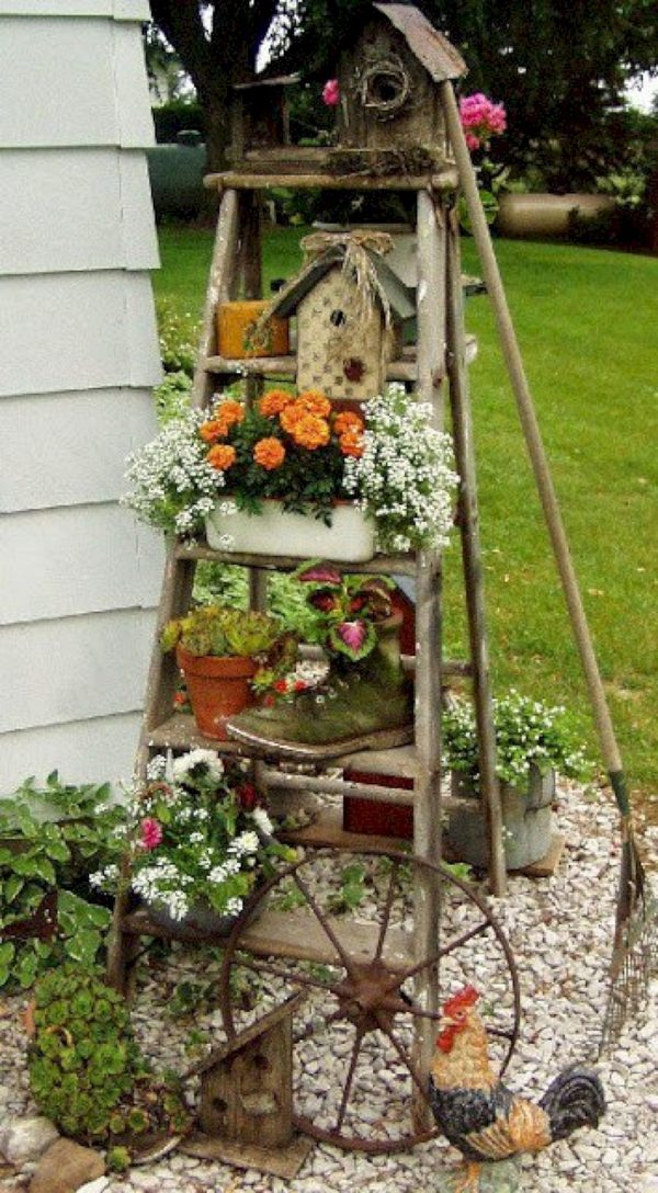 Tips 8 Brilliant Diy Vintage And Rustic Garden Decor Ideas On A Medium