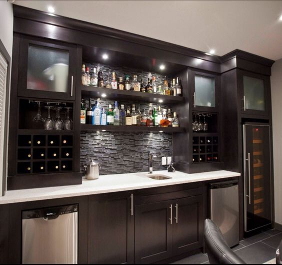 Tips Best 25  Basement Bars Ideas On Basement Bar Medium