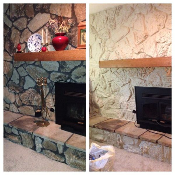 Tips Best 25  Painted Stone Fireplace Ideas On Medium